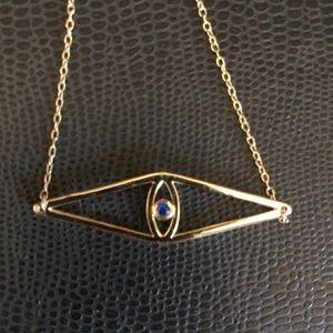 Gold Vermeil Evil Eye Necklace